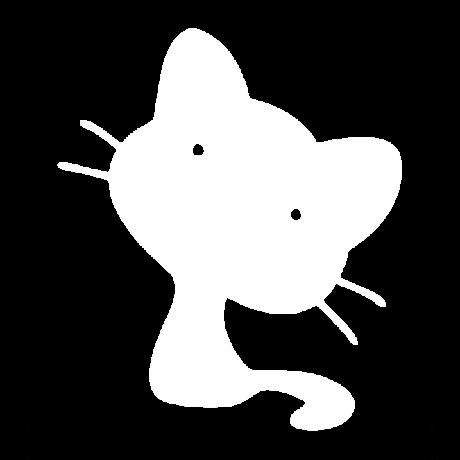 Kis szemű macska autó matrica fehér #411