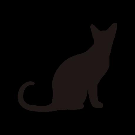 Ülő macska autó matrica fekete #415