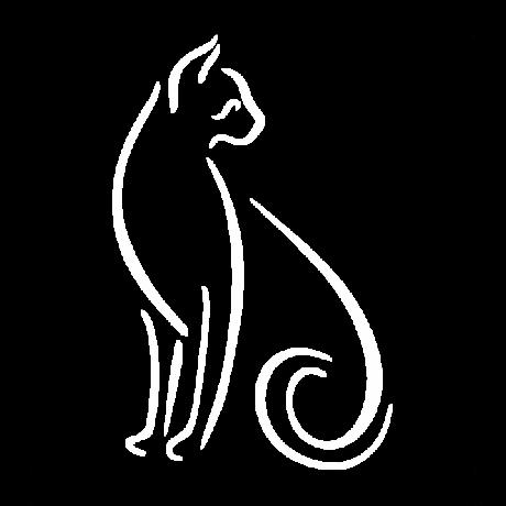 Hátrafelé néző macska autó matrica fehér #421