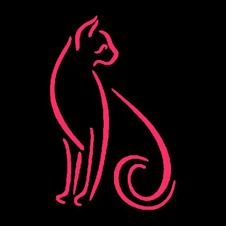 Hátrafelé néző macska autó matrica pink #422