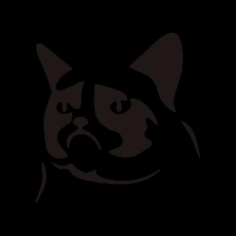 Grumpy cat autó matrica fekete #425