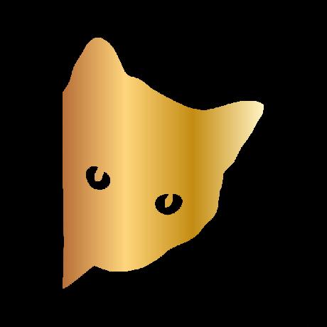 Macskafej autó martica arany #433