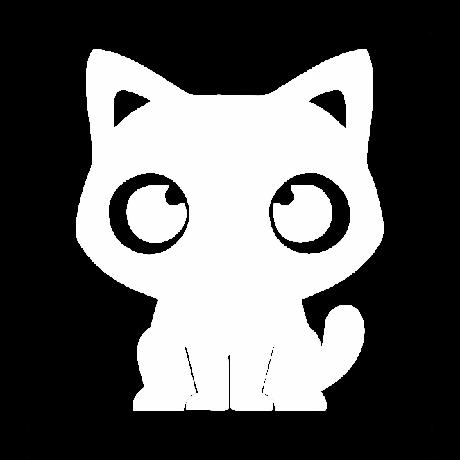 Aranyos macska autó matrica fehér #436