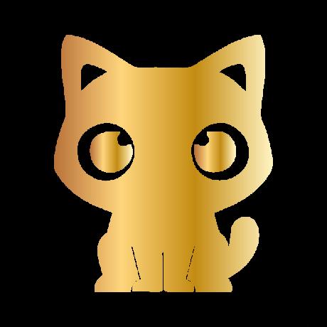 Aranyos macska autó matrica arany #438
