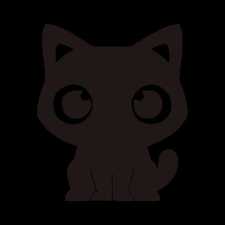 Aranyos macska autó matrica fekete #435