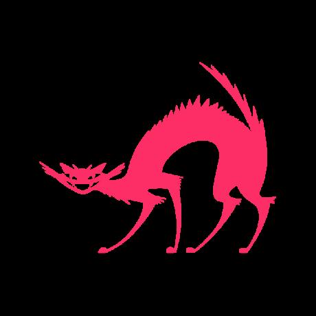 Vigyorgó macska autó matrica pink #447