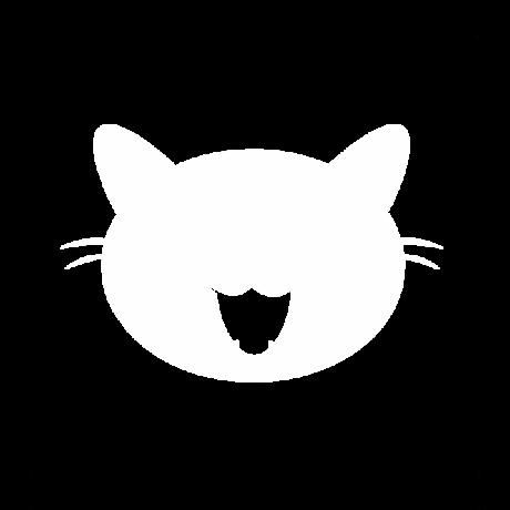 Nyávogó macska autó matrica fehér #451