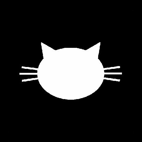Hegyes fülű macska autó matrica fehér #461