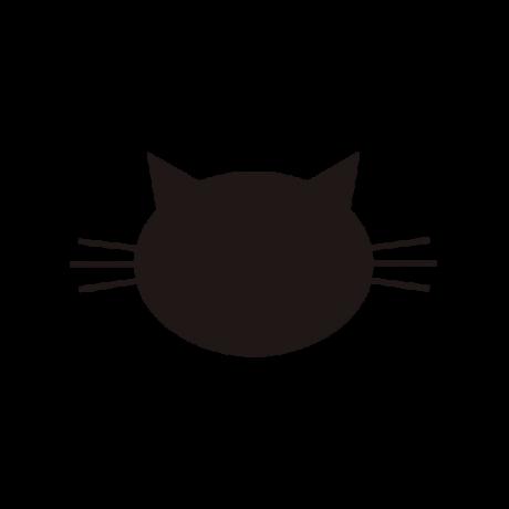 Hegyes fülű macska autó matrica fekete #460