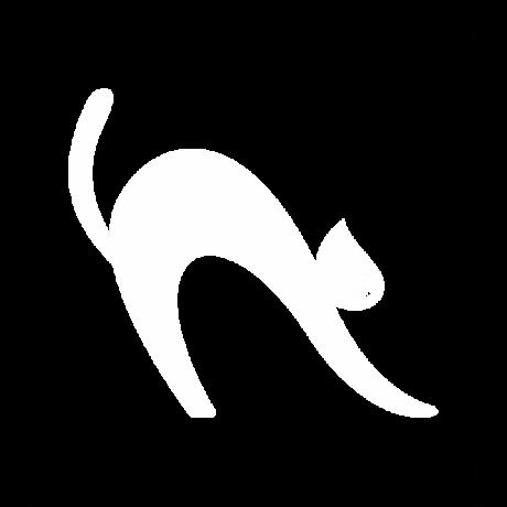 Görbe macska autó matrica fehér #471