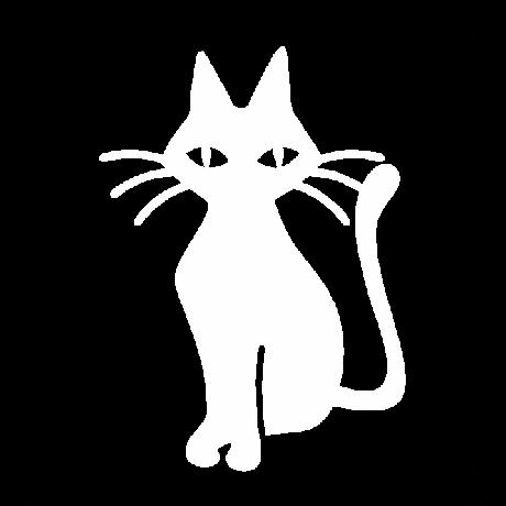 Hoszzú bajszú macska autó matrica fehér #476