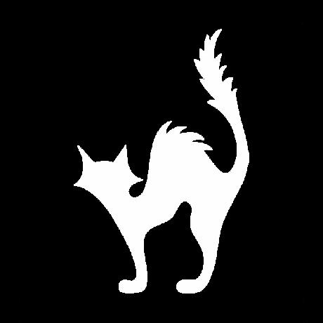 Borzas macska autó matrica fehér   #481
