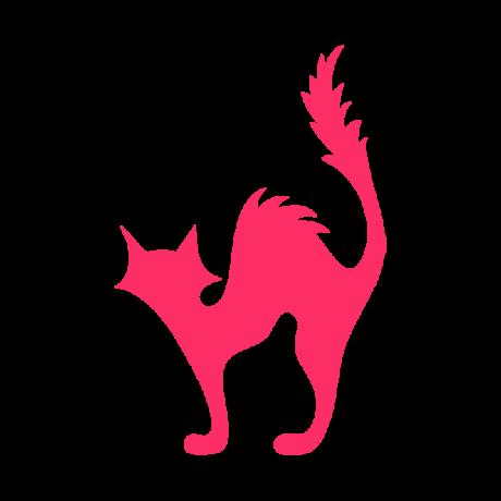 Borzas macska autó matrica pink  #482