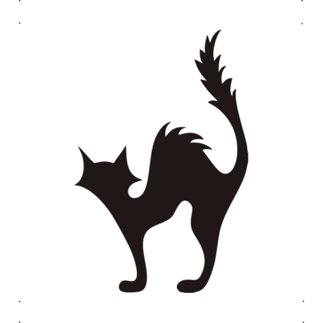 Borzas macska autó matrica fekete   #480