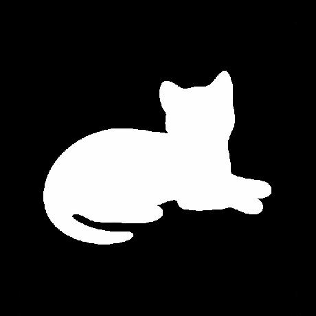 Fekvő macska autó matrica fehér #491