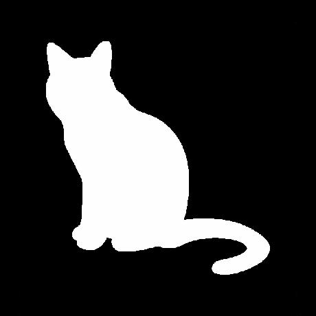 Unatkozó macska autó matrica fehér #496