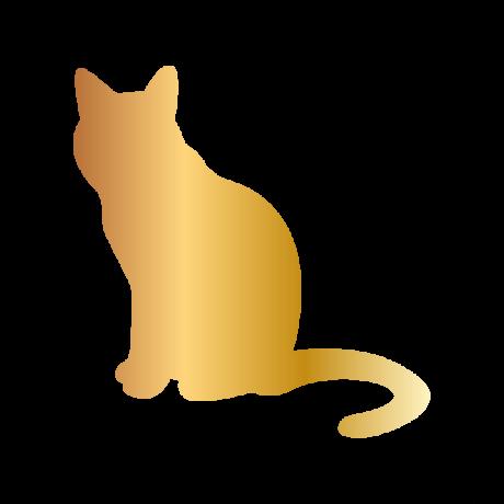 Unatkozó macska autó matrica arany #498