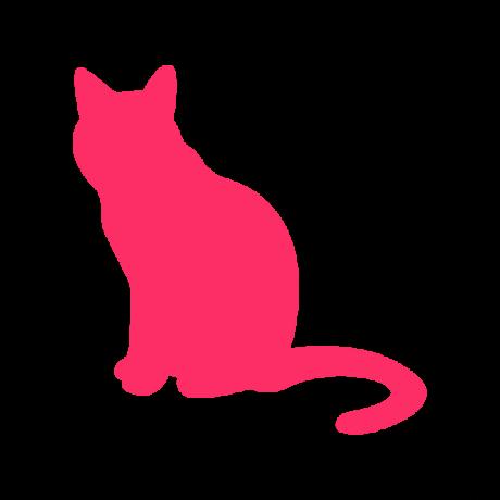 Unatkozó macska autó matrica pink #497