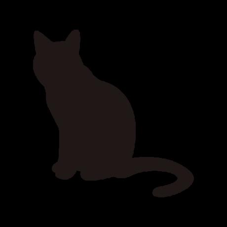 Unatkozó macska autó matrica fekete #495