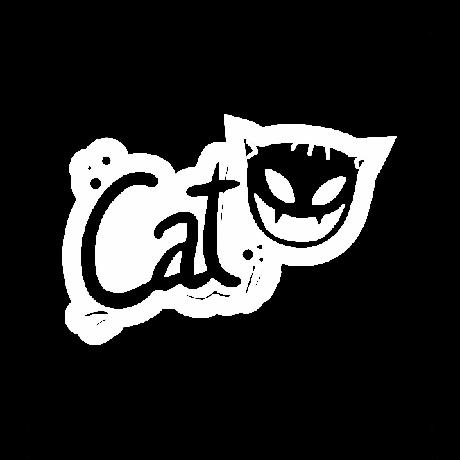 Cat feliratú autó matrica fehér #501