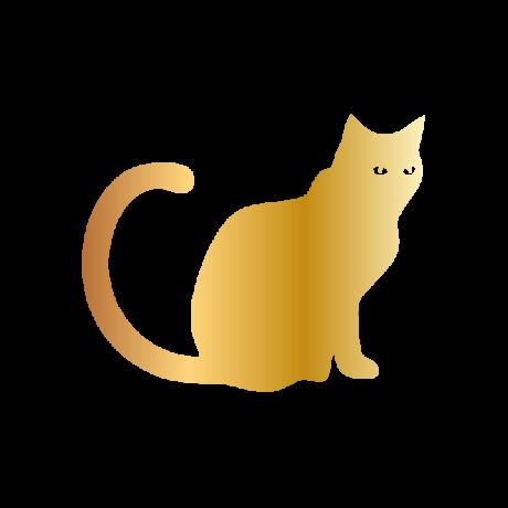 Meglepett macska autó matrica arany #508