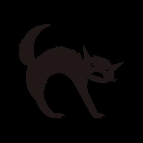 Mérges macska autó matrica fekete #510