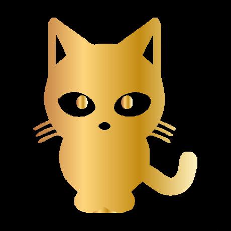 Kölyök macska autó matrica arany #518