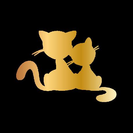 Felnőtt-kölyök macska autó matrica arany #523
