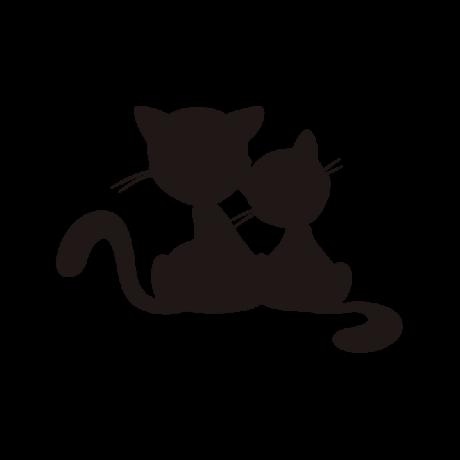 Felnőtt-kölyök macska autó matrica fekete #520