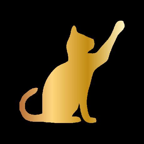 Pacsit adó macska autó matrica arany #528
