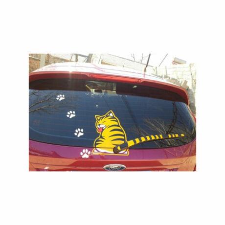 Macskás szélvédő + ablaktörlő matrica