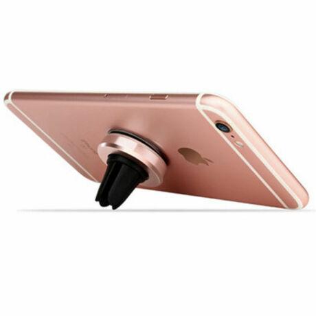 Mágneses, szellőzőrácsba illeszthető mobiltartó pink