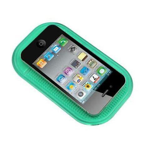 Mágikus, tapadó és csúszásgátló mobiltartó zöld