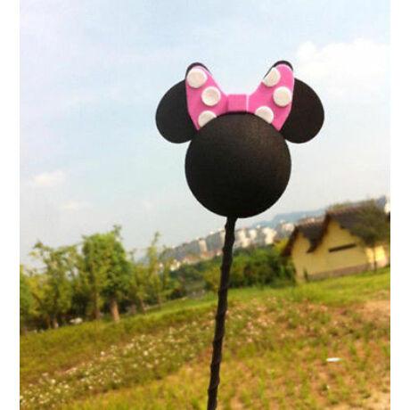 Autó antenna labda-Minnie Mouse pink masni