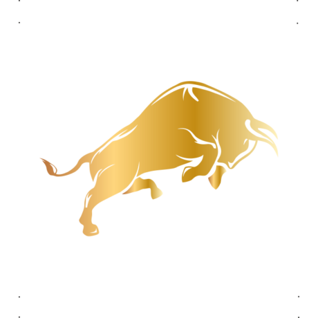 Ugró bika autó matrica arany #109