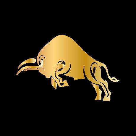 Púpos Bika autó matrica arany #144