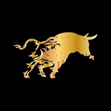 Futó Bika autó matrica arany #159