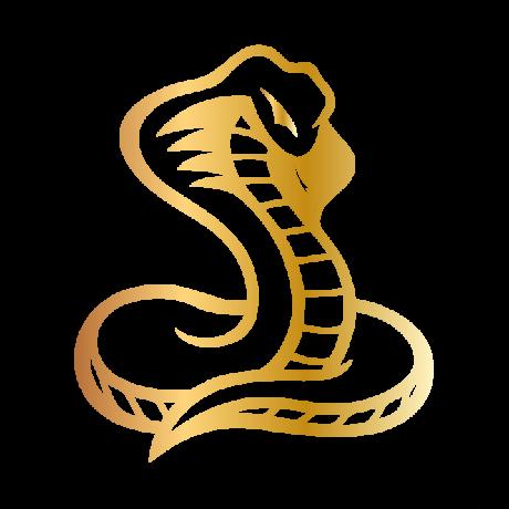 Egészalakos kígyó autó matrica arany #298