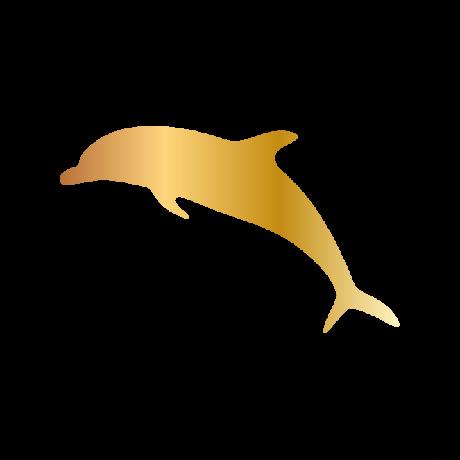 Delfin autó matrica arany #598