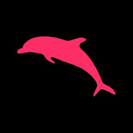 Delfin autó matrica pink #597