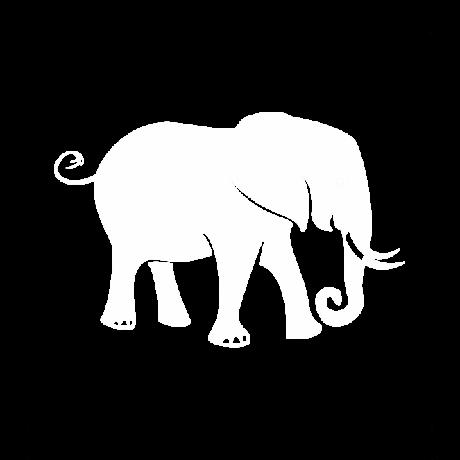 Szomorú elefánt autó matrica fehér #606