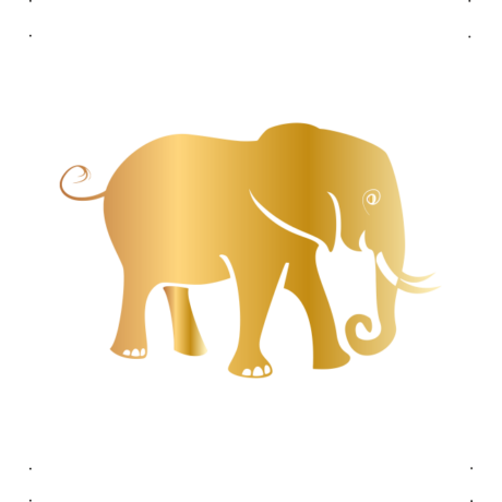 Szomorú elefánt autó matrica arany #608