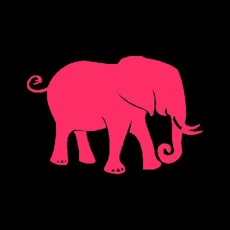 Szomorú elefánt autó matrica pink #607