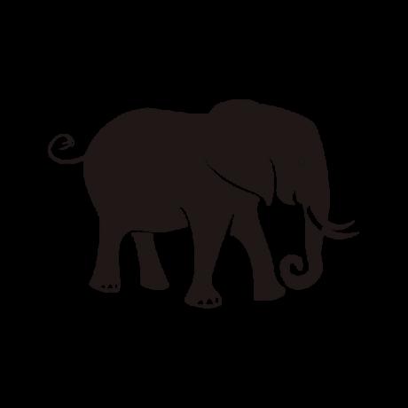 Szomorú elefánt autó matrica fekete #605