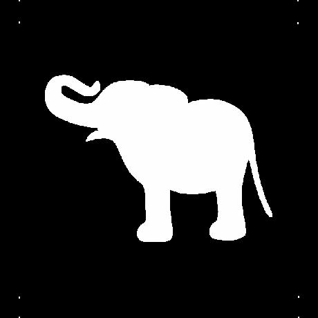 Vidám elefánt autó matrica fehér #621
