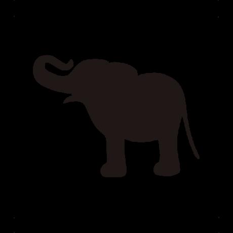 Vidám elefánt autó matrica fekete #620