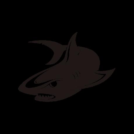 Vicsorgó cápa autó matrica fekete #715