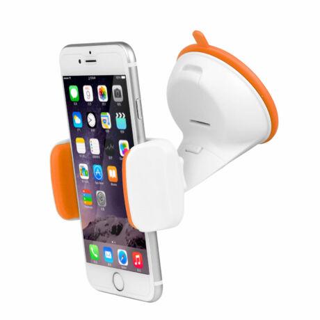 Univerzális, állítható mobiltartó narancs/fehér