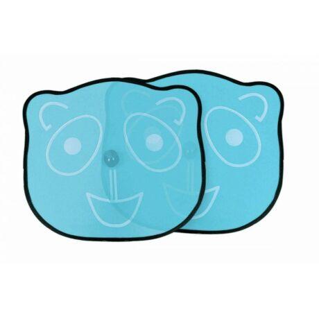 Autó napellenző hátsó ablakokra, kék panda, 2 db