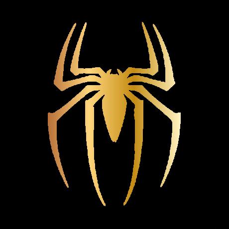 Keresztes pók autó matrica arany #563